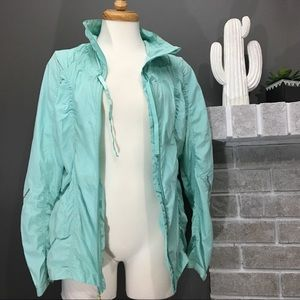 Tiffany blue windbreaker